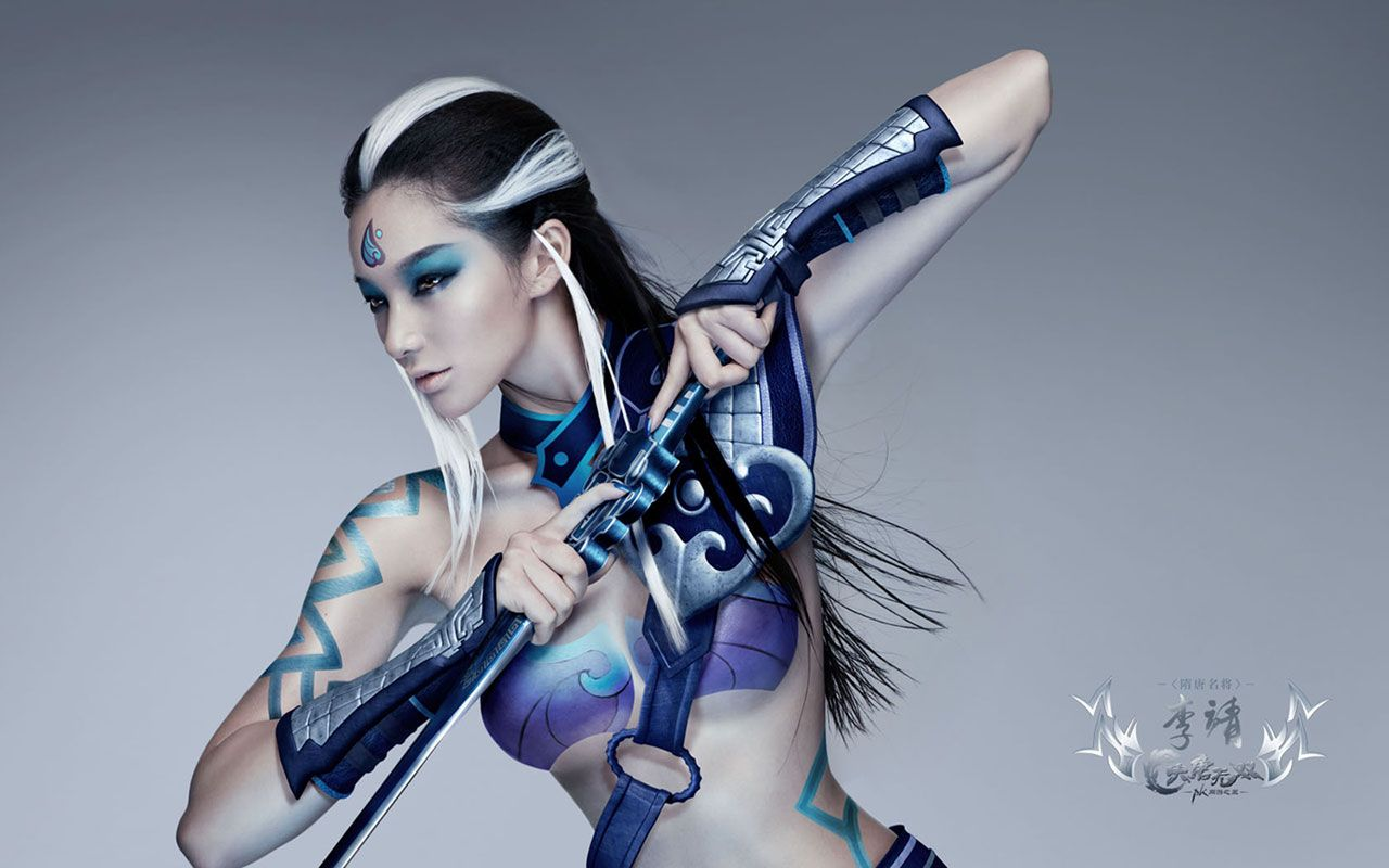 1920x1080 Colorful Body Paint Wallpaper
