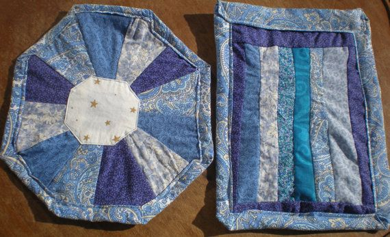 Check out this item in my Etsy shop https://www.etsy.com/listing/220953027/folk-art-scrap-quilt-table-protectors