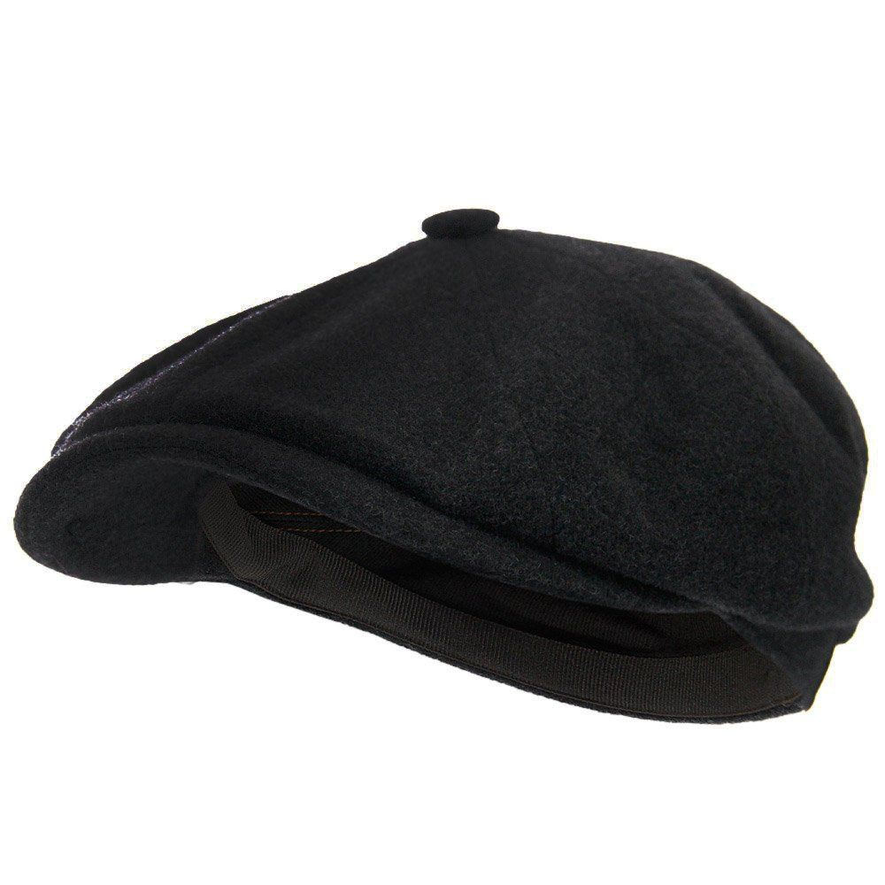 19738f8cc08a0 Stetson Headwear Stetson Hatteras Wool Cashmere Black Newsboy Cap 6840101 1  55