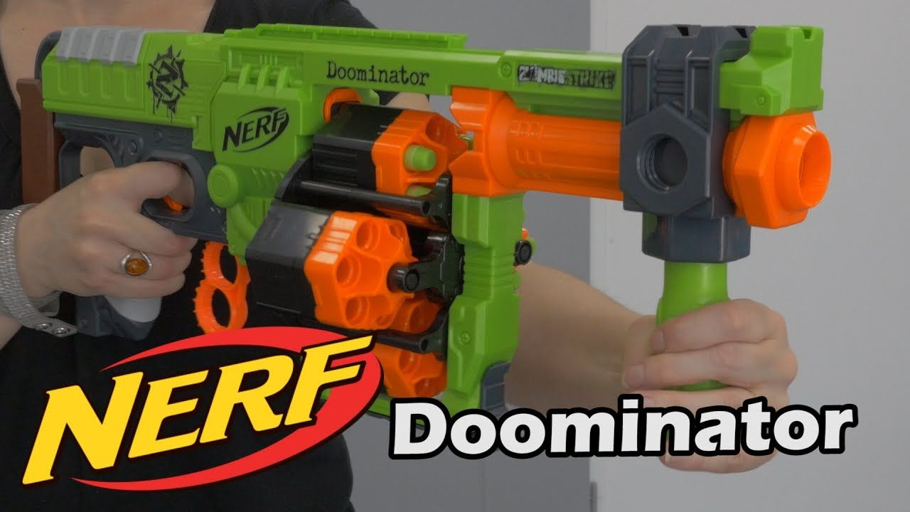 Nerf Zombie Strike Doominator - Démo du blaster en français HD FR