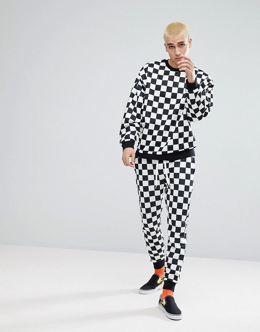 5f367ce6c344 Tracksuit In Checkerboard Print | Textile Trends | ASOS, Fashion ...