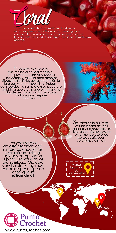 Pulsera de Minerales Coral Rojo piedra mineral Natural