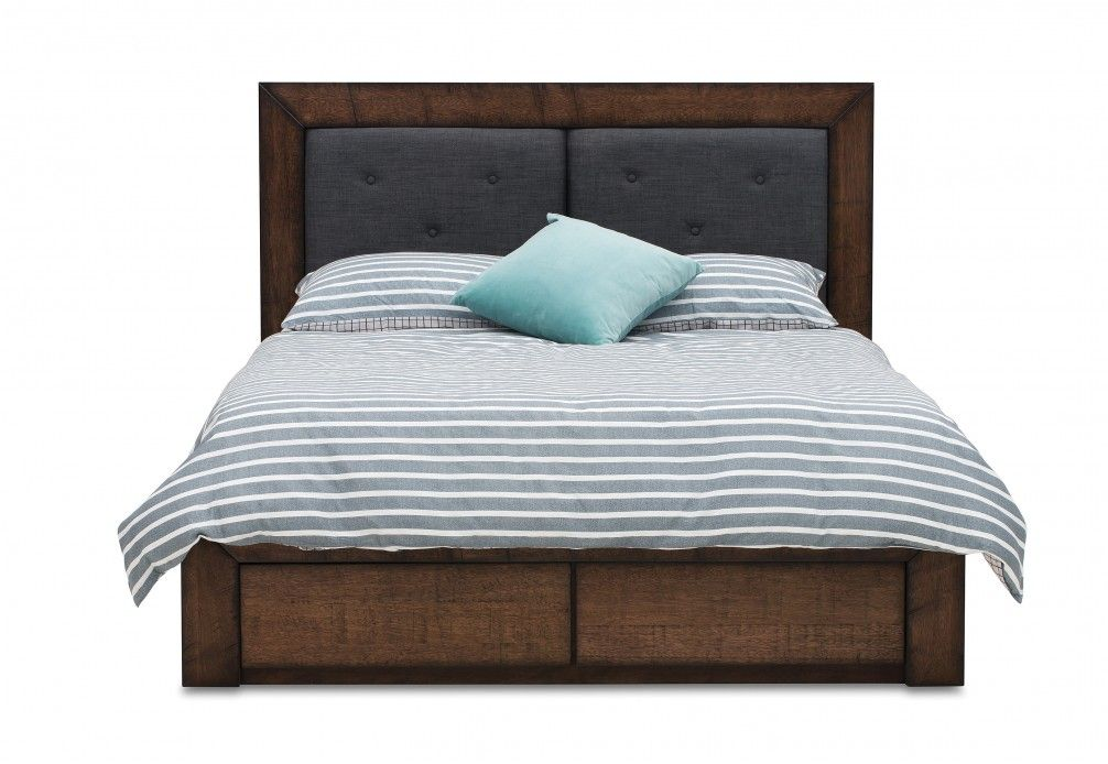 boulder queen bed with 2 drawer base storage super amart
