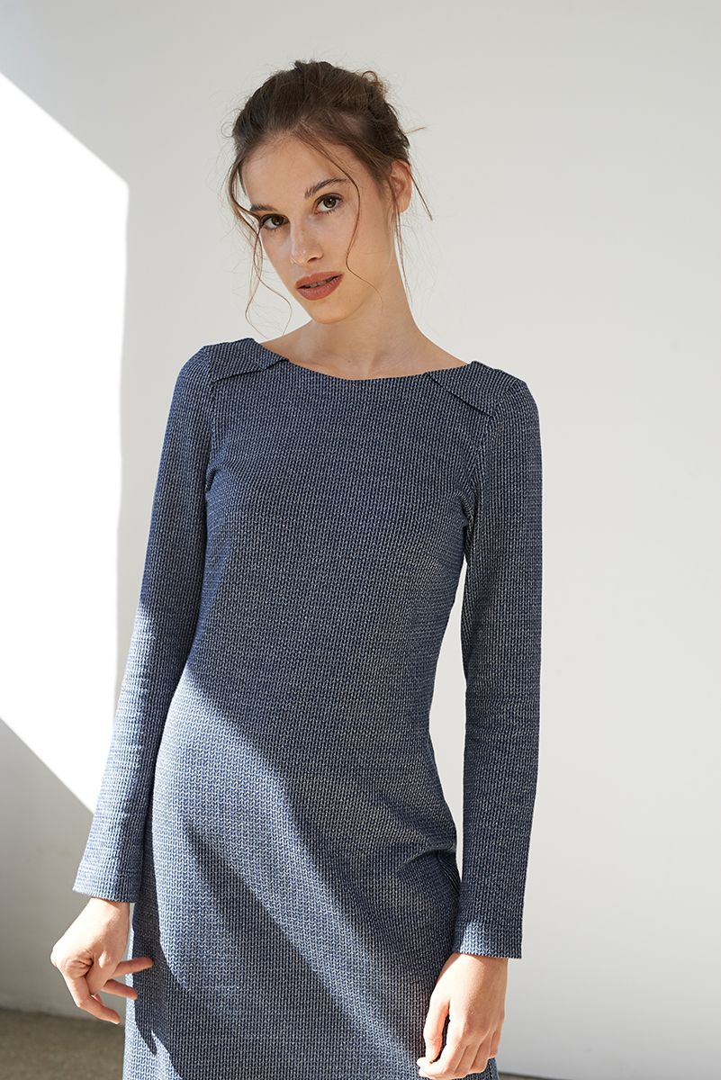 18+ Figurbetontes Kleid Hellblau Mode - Givil Lardo
