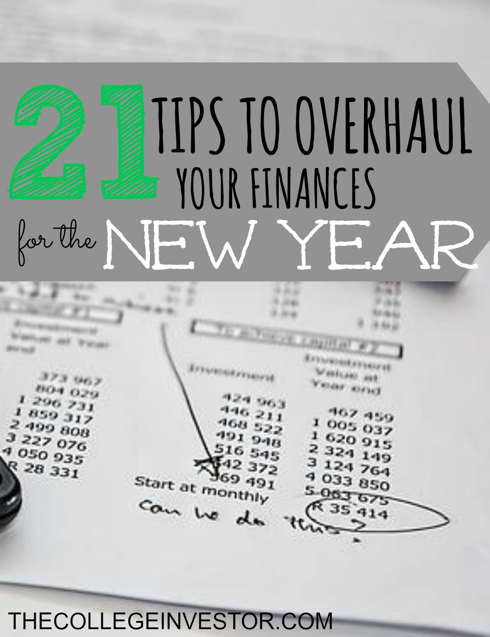 21 Tips to Overhaul Your Finances for the New Year