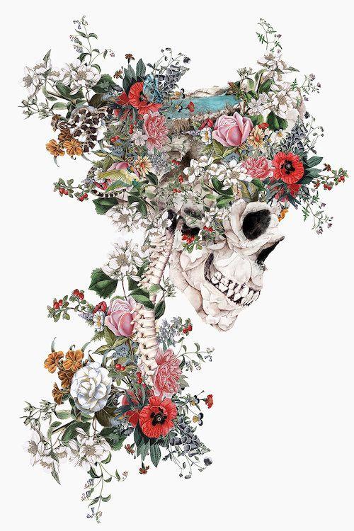 Skull Queen - Canvas Print