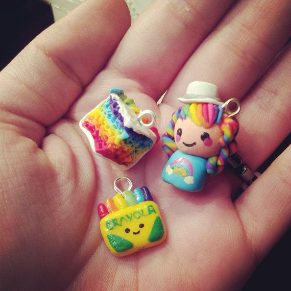 how to make polymer clay charms by coolricebunnies