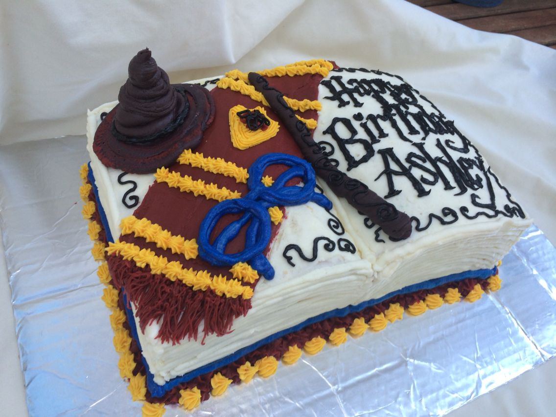 Harry Potter Buttercream Book Cake By Inphinity Designs