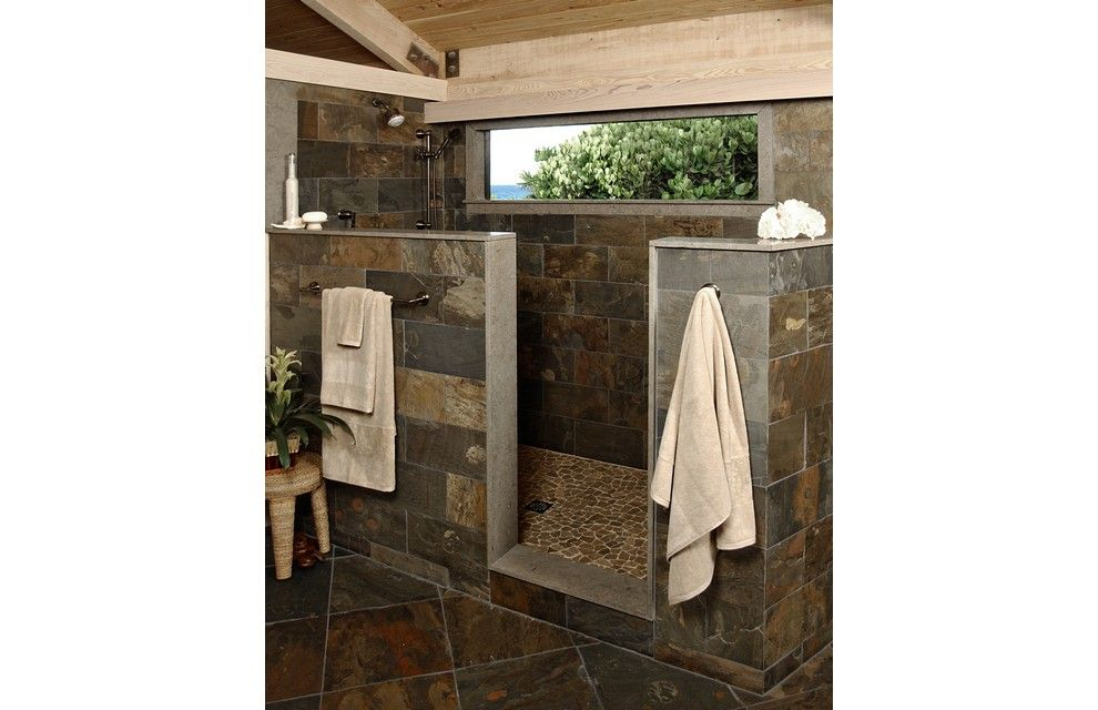 Modern Rustic Shower rustic tile shower design | rustic shower with stone | bathroom