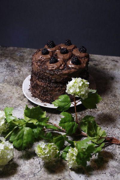 LAYER CAKE AU CHOCOLAT AU MASCARPONE ET AUX MÛRES