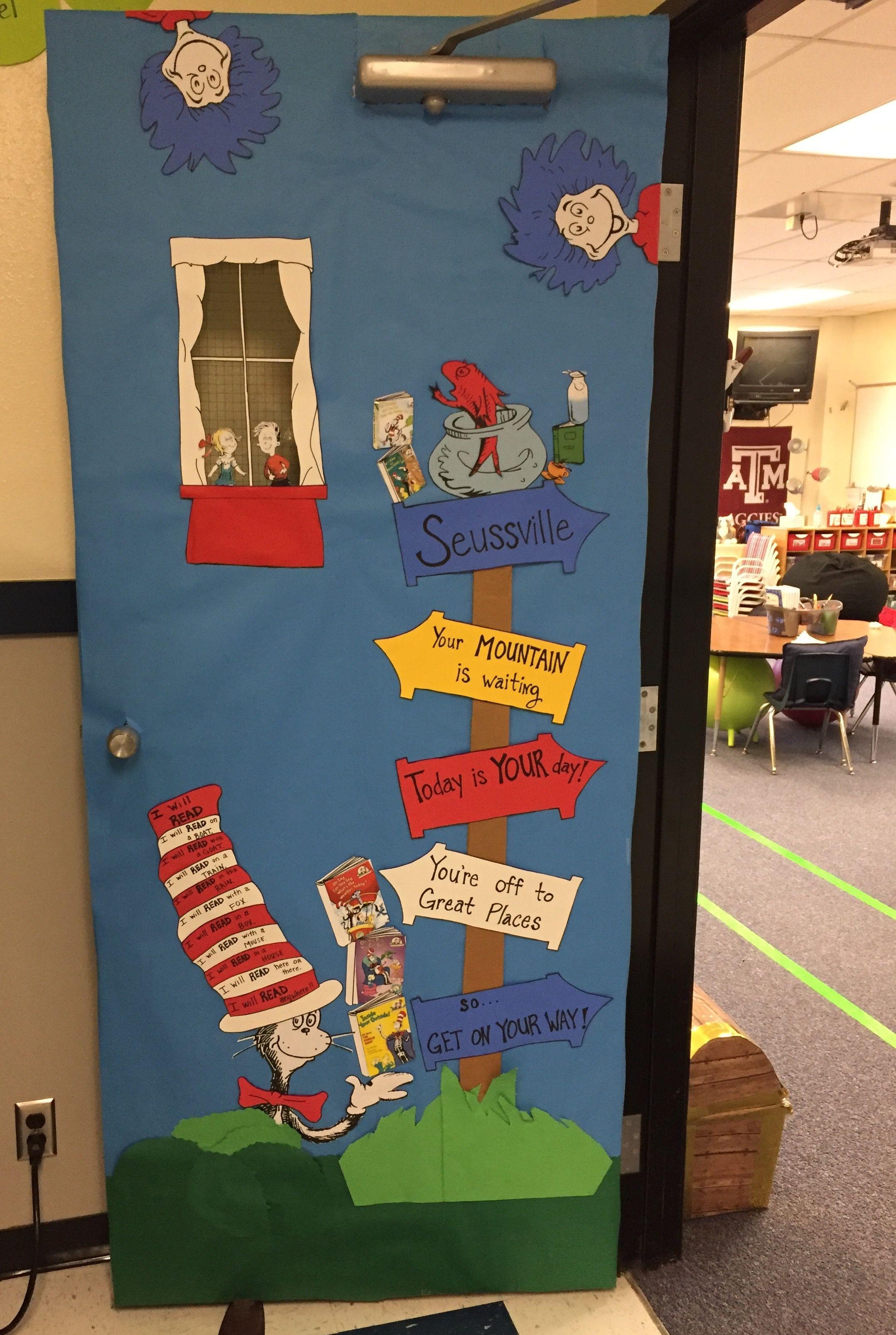 Classroom Door With Cat In The Hat Dr Seuss