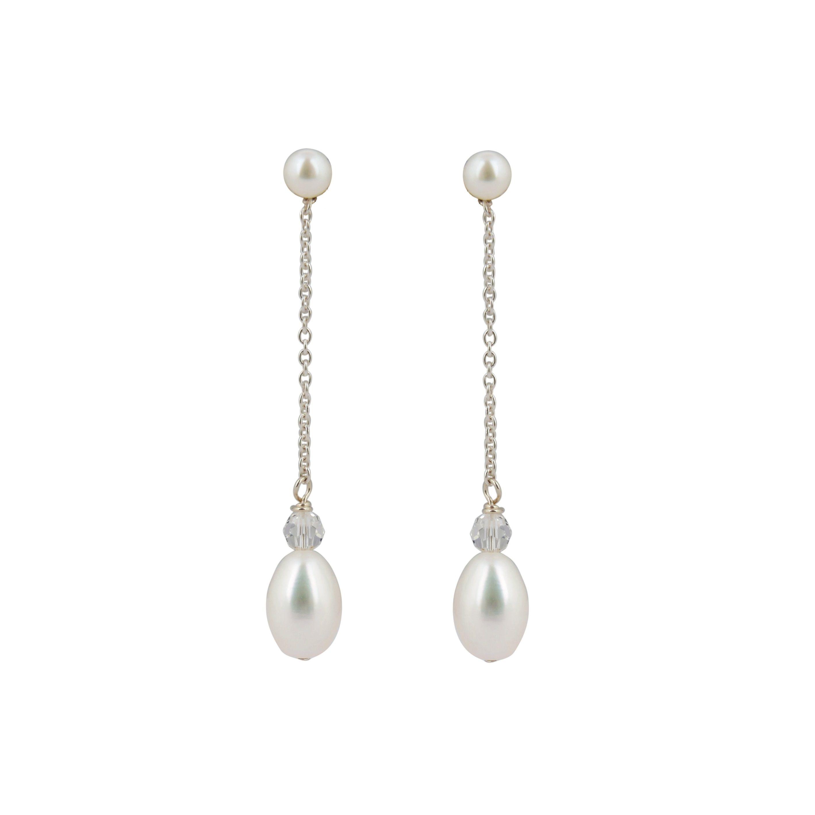 Esme pearl drop bridal earrings chez bec pearl drop