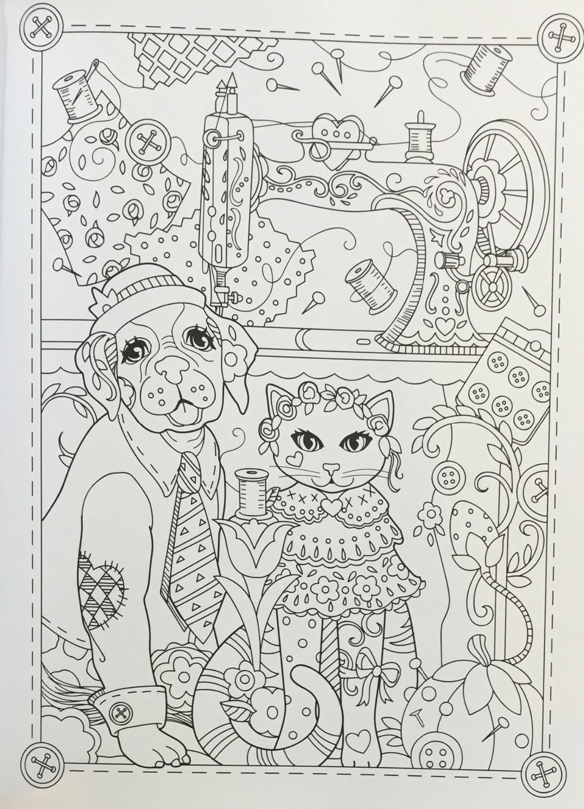 Marjorie Sarnats Pampered Pets New York Times Bestselling Artists Adult Coloring Books