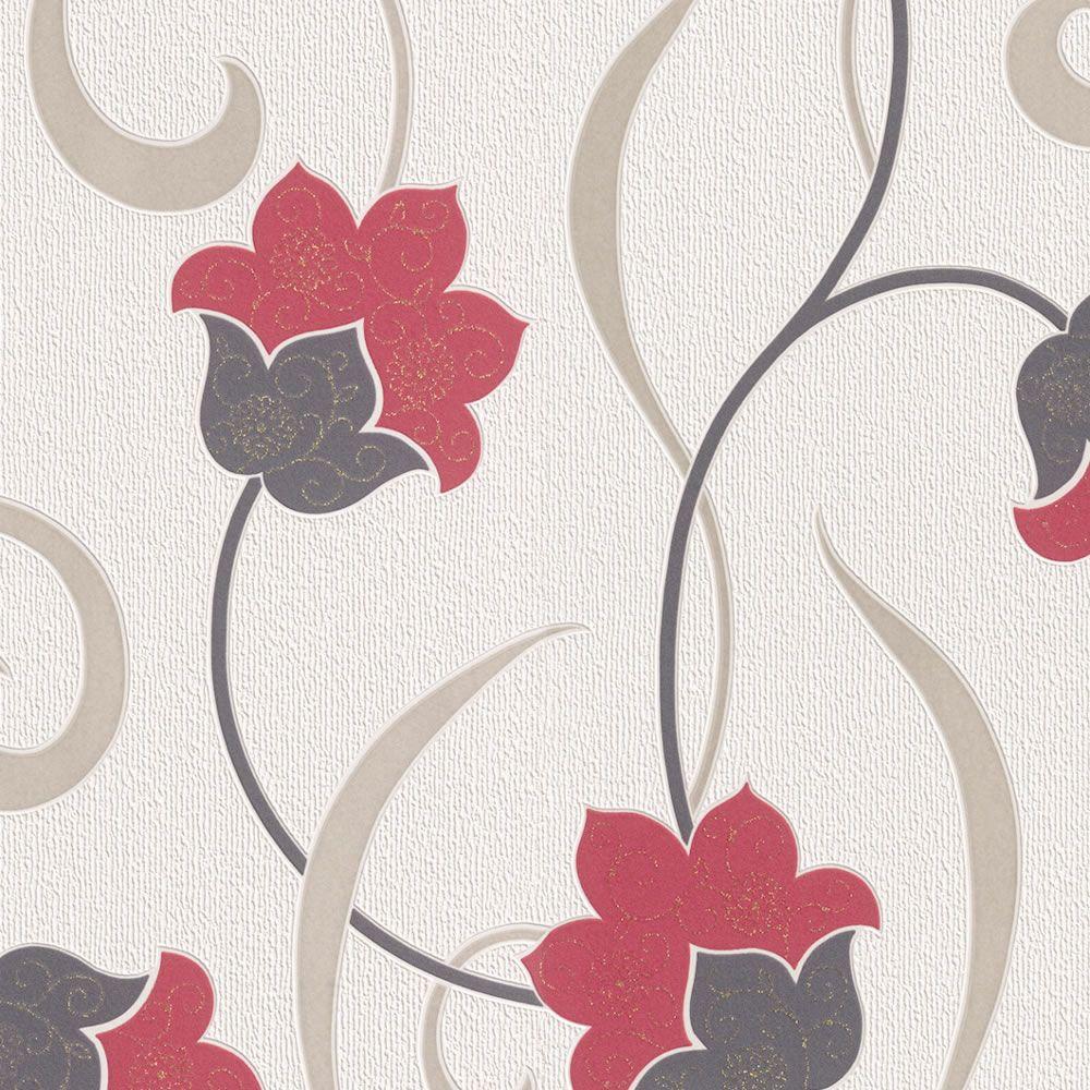 Rasch Georgia Jacobean Floral Textured Vinyl Wallcovering