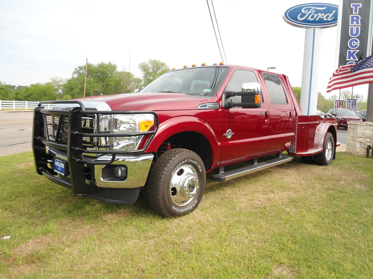 2014 ford f350 drw lariat 4x4 with a custom herrin hauler bed this hauler truck