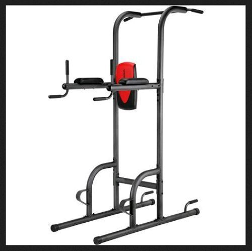 Power tower stand pull up station home gym exercise push