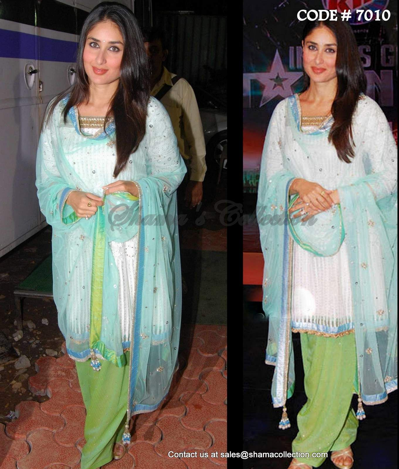 7010 Kareena Kapoor khan in multi color patiala suit - Shama\'s ...