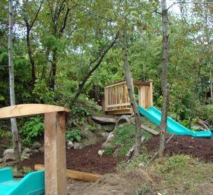 Natural Playground - Slides @ Nelson Waldorf School in BC