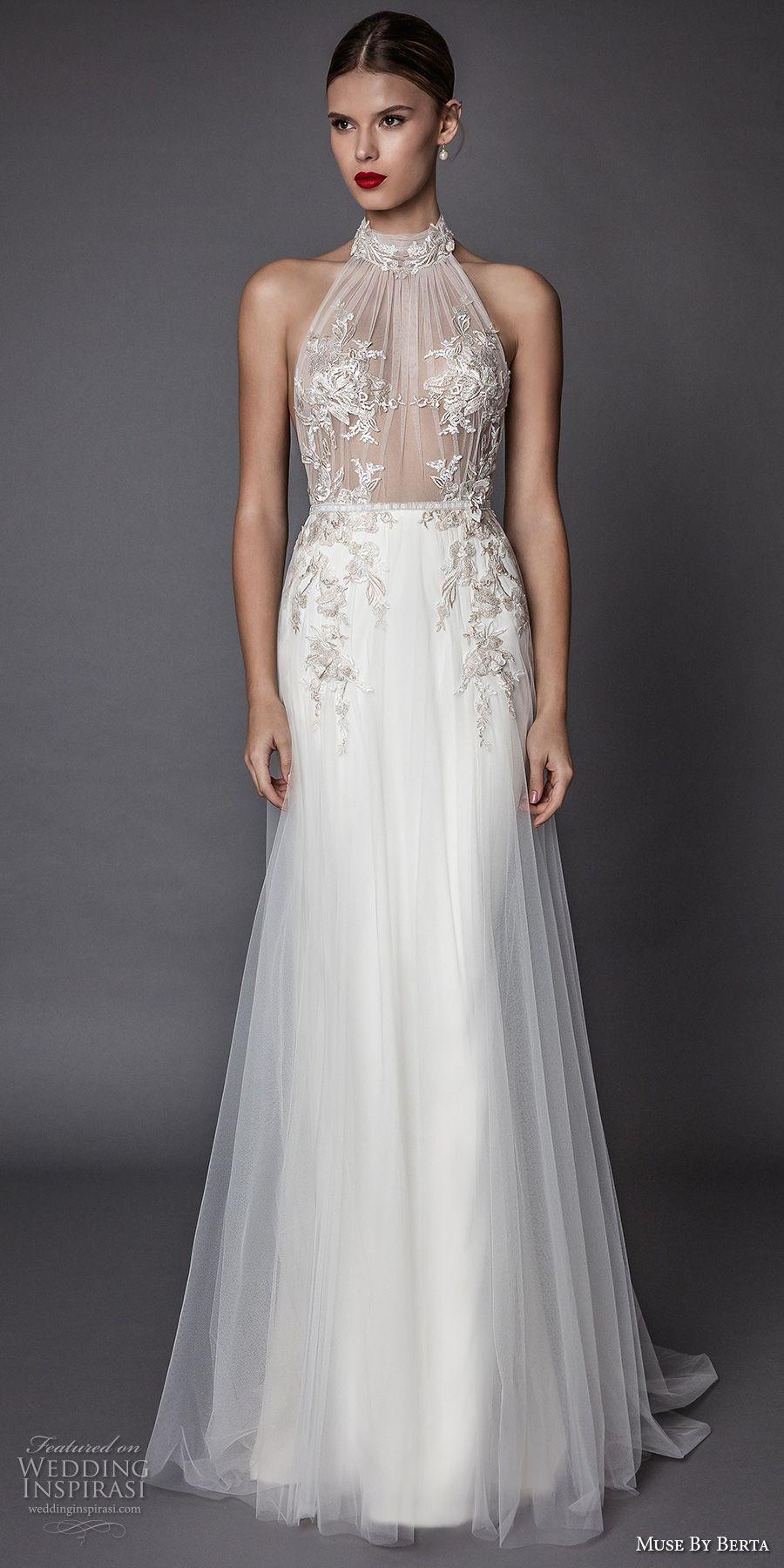 Muse by berta fall wedding dresses gowns pinterest halter