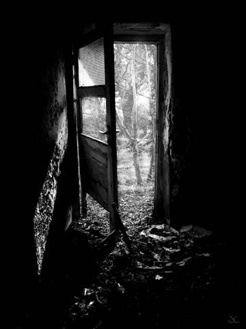 Doorway free shipping black and white landscape photography black and white photography
