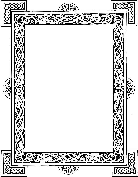 Celtic frame graphic by DeviantNepStock | art | Pinterest | Celtic ...