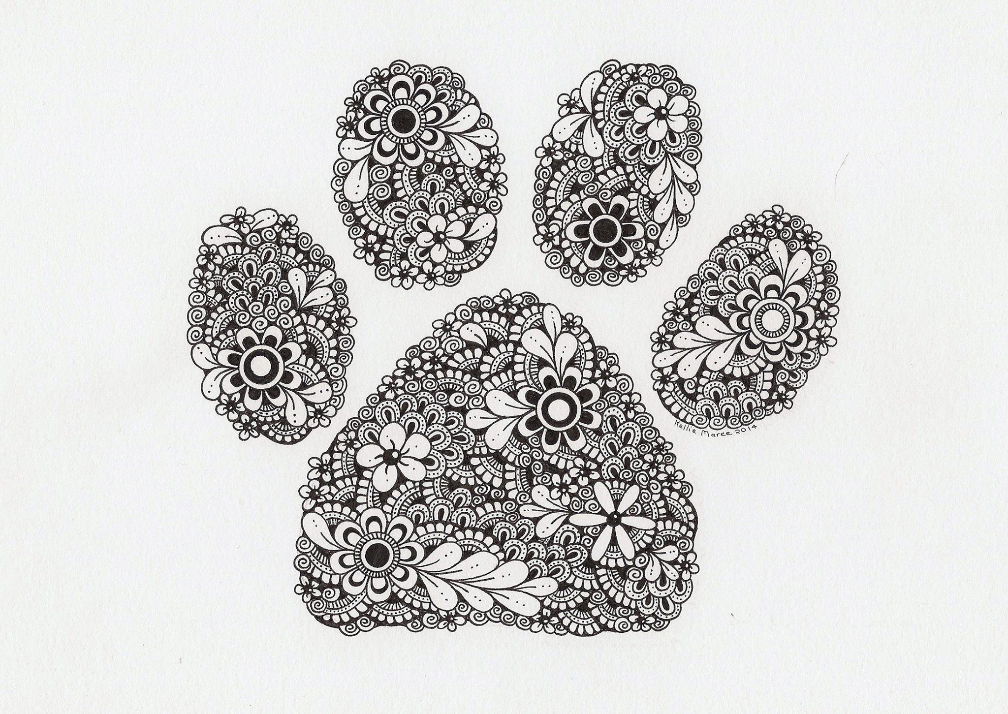 Malvorlagen Tiere Hufeisen Zentangle Muster Kritzeleien Haustiere Ausmalen Tattoo Ideen Katzen Zeichnungen