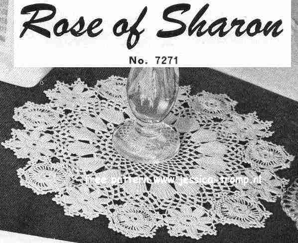 Rose of Sharon doily free vintage crochet doilies patterns