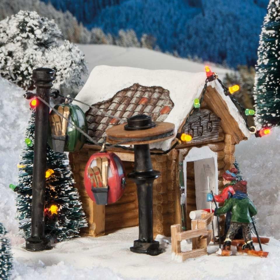 Weihnachtsbilder Mit Led.Lichthäuser Weihnachtsdeko Skilift Mit Led Licht Winter
