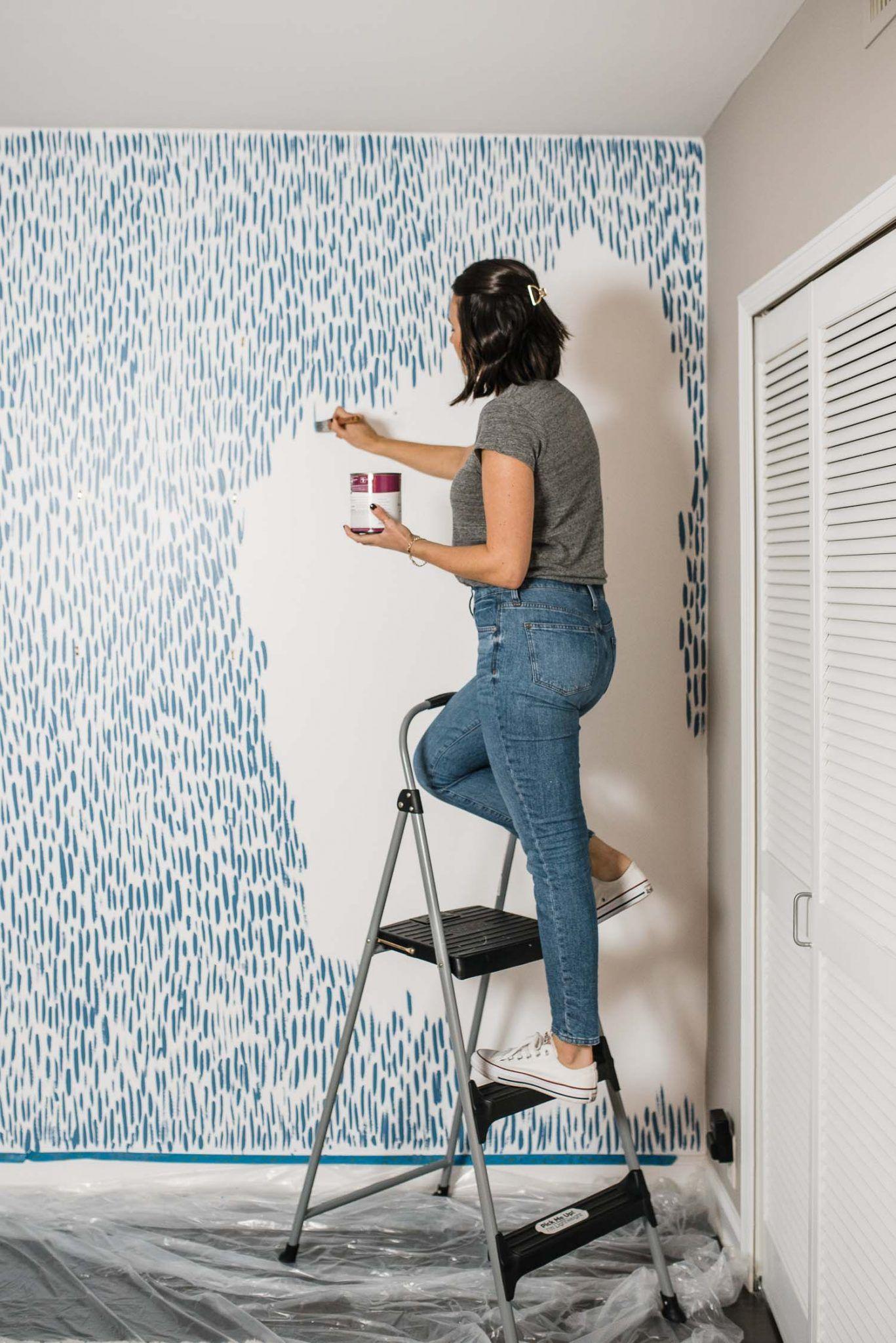 Diy Brushstroke Accent Wall Tutorial Diy Accent Wall Bedroom Diy Diy Bedroom Decor