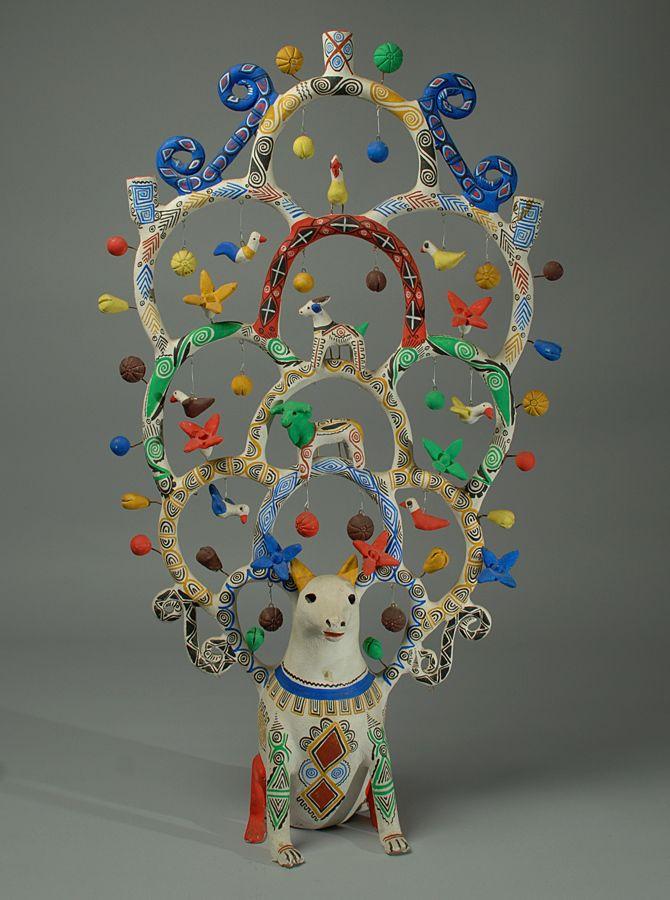Tree Of Life Pottery Mexico Mexican Folk Art Tree Of Life Art Mexican Art