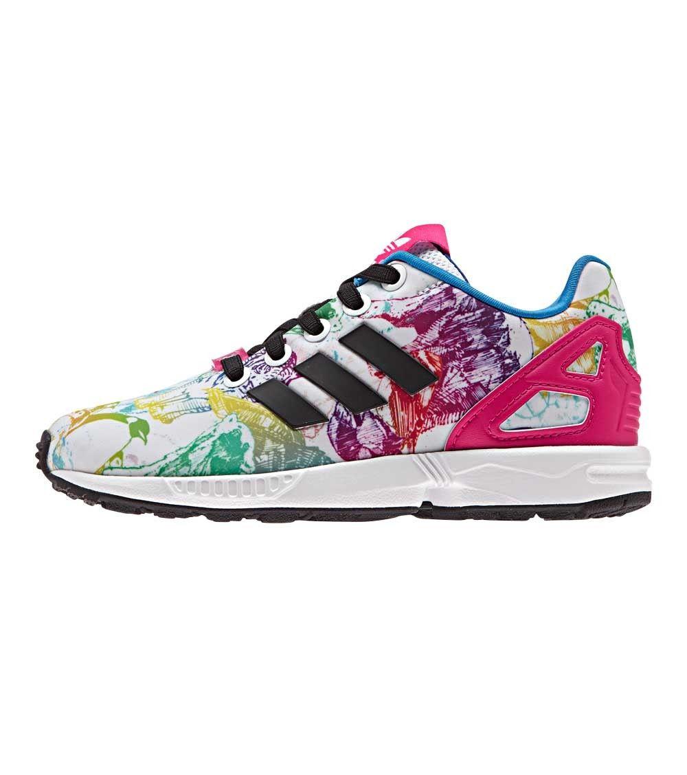 online retailer bd5e5 8b29c Adidas ZX Flux EL Kids C White/Bopink, Kids Footwear, www ...