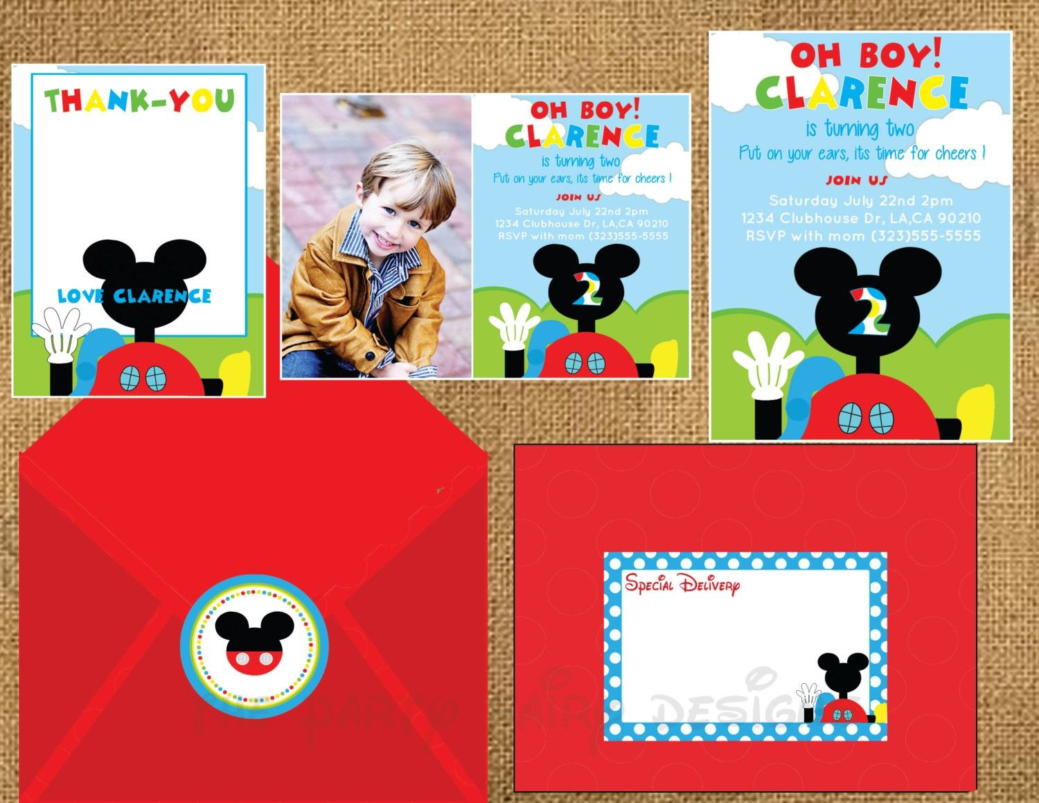 Mickey Mouse Clubhouse Invitations Walmart Birthday Party