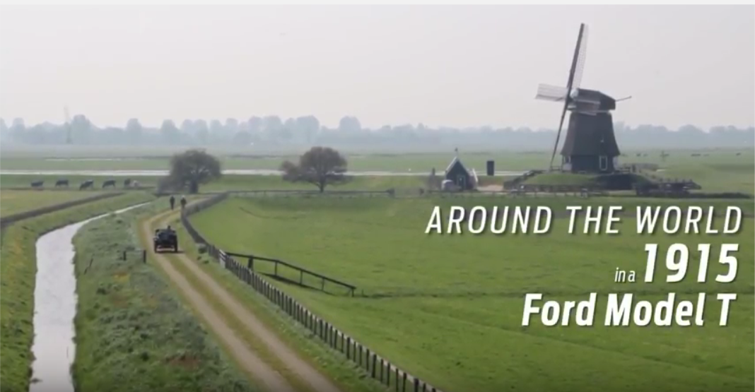 Would you believe you could drive a 1915 #Ford Model T around the world? Well, #Ford fans Trudy and Dirk believed they could... and they did. #throwbackthursday https://youtu.be/Z2vFtoFvlQU