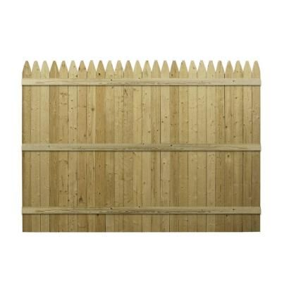 Severe Weather Actual 5 91 Ft X 8 Ft Cedar Stockade Fence Panel 73000506 In 2020 Wire Fence Bamboo Fence Fence Design