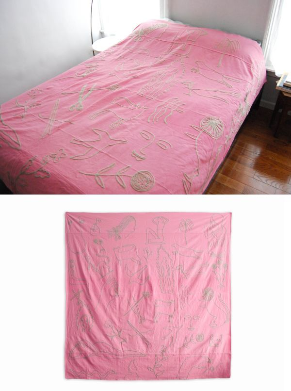 Flash Embroidered Bedspread Pink By Kaye Blegvad At Private