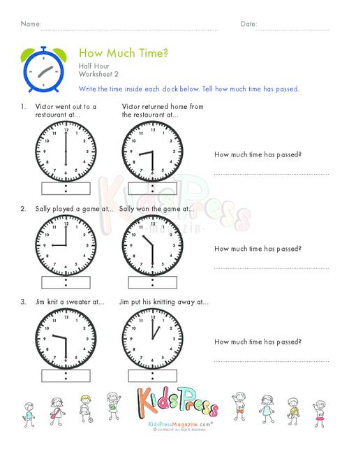 Telling Time Half Hour Worksheet # 7   #worksheets #homeschooling #math #lessons