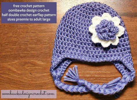 Simple Half Double Crochet Ear Flap Hat Free Pattern In 2018 My