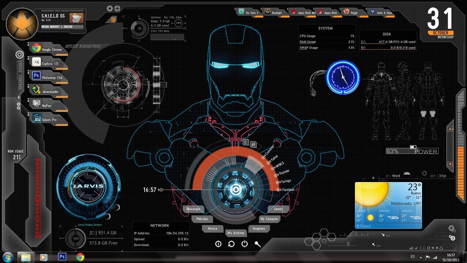 Descargar Fondos De Pantalla En Movimiento Gratis Para Pc Wallpaper Pc Iron Man Wallpaper 3d Wallpaper For Pc