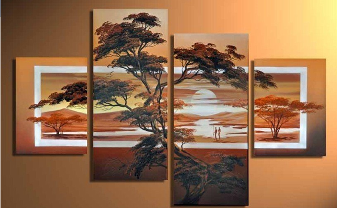 Beautiful Nature is a 4 panel canvas art piece with a Modern Canvas style. This canvas painting will be 100% hand painted for your order by the most skilled of artists with such exceptional detail & quality that it is perfect for museum or gallery display. Framed: No