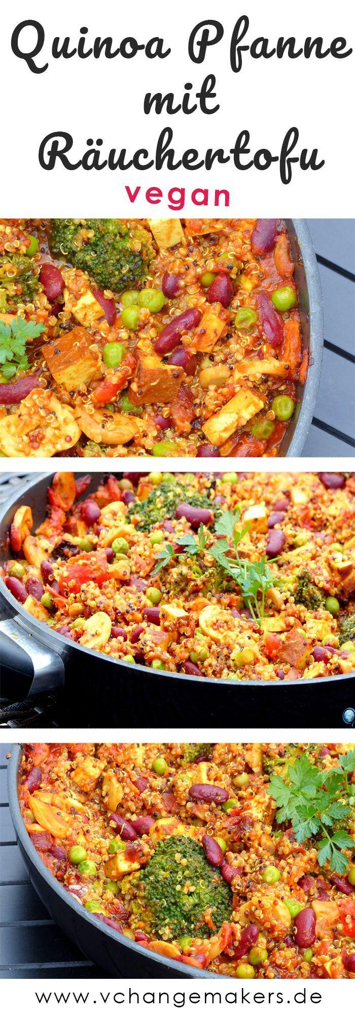 Rezept: Nährstoffreiche Quinoa Pfanne mit Räuchertofu - vegan ,  Rezept: Nährstoffreiche Quinoa