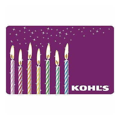Birthday Candles Gift Card Egift Card Gift Card Gift Card Balance
