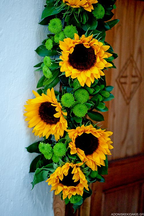 sunflower decorations | orange butterflies | Pinterest