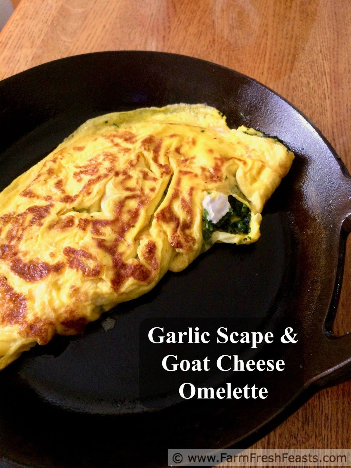 Garlic Scape and Goat Cheese Omelette Recipe Goat