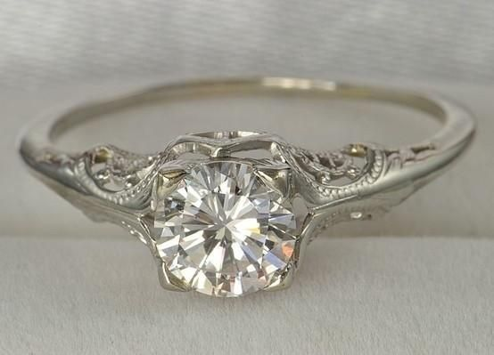Antique Engagement Rings Without Diamond Vintage Wedding Ring By Kimara