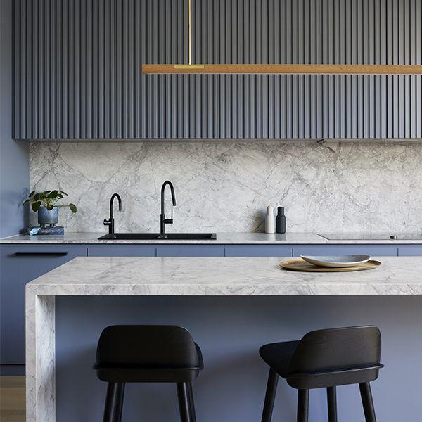 Casa 184 Cocinas Gris Azul Juegos De Cocina Diseno Cocinas Modernas