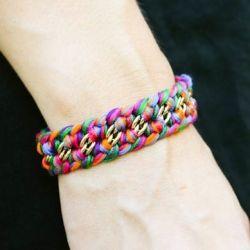 "Inspired by Aurelie Bidermann's ""Do Brasil"" line - DIY Woven Necklace & Bracelet! Easy and packs a lot of punch!"