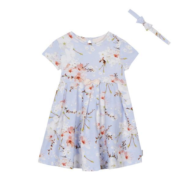 9f398486c5486 Baker by Ted Baker Girls  blue floral print dress and headband set ...