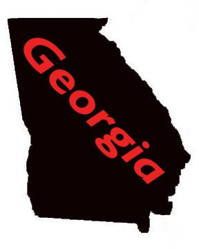 Georgia State Outdoor Vinyl Decal UV Resistant Custom Made State - Custom made window decals for trucks