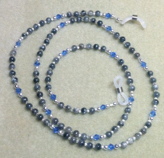 Handmade Beaded Blue Labradorite & Swarovski by WestJewelryDesigns