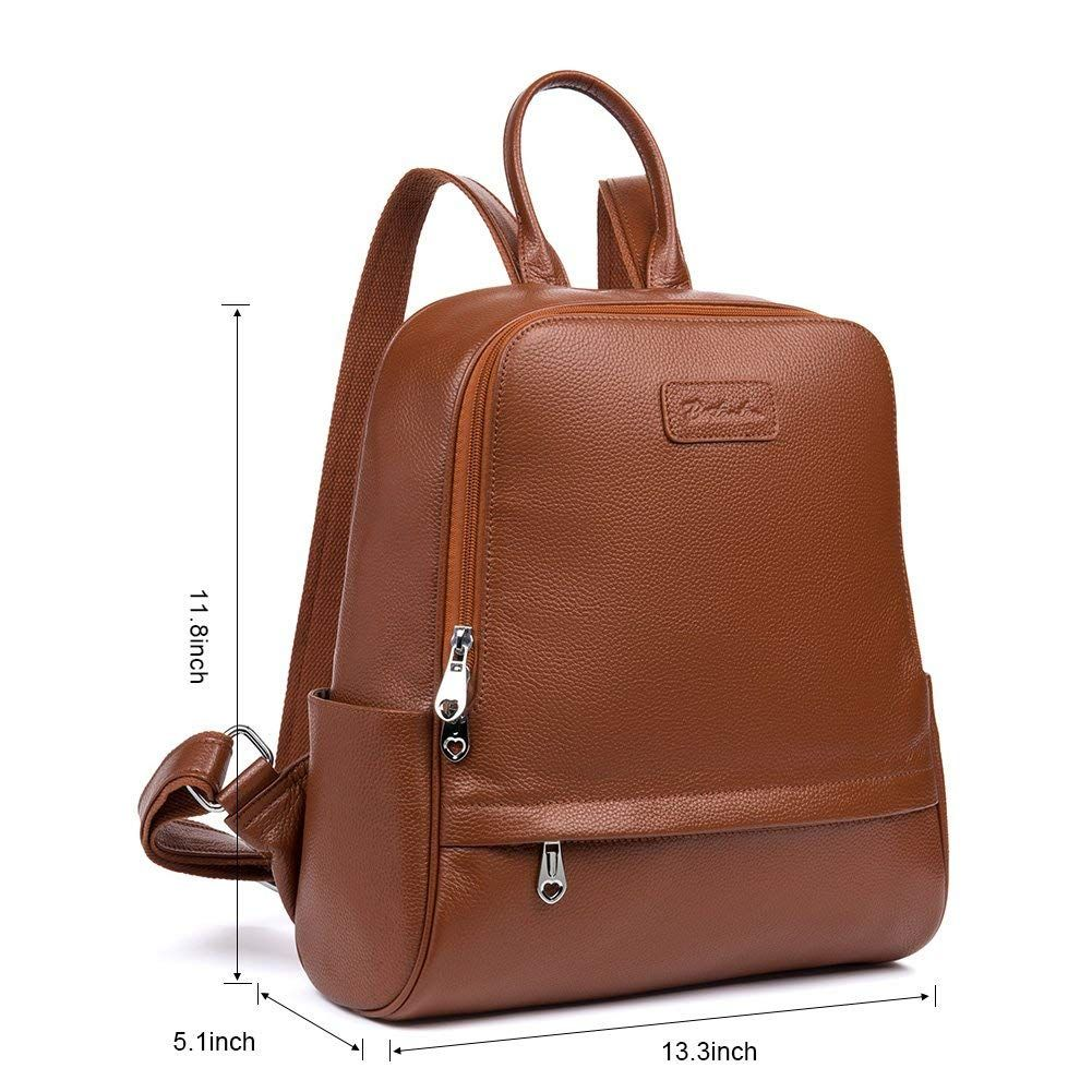 a20f3cfe1b Big Sale,BOSTANTEN Women Genuine Leather Backpack Rucksack Ladies Casual  Daypacks Shoulder Bag Purse School